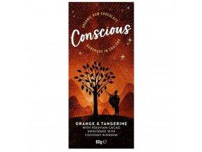 Conscious čokoláda – Pomeranč a mandarinka, bio & raw, 60 g