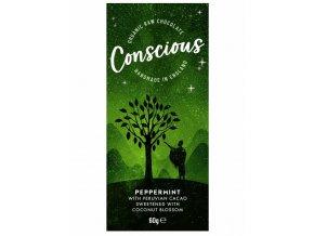 Conscious čokoláda – Máta peprná, bio & raw, 60 g