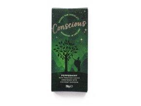 Conscious čokoláda – Máta peprná, bio & raw, 30 g