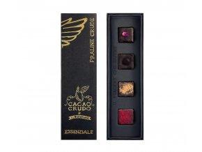 Cacao Crudo - Essenziale - Pralinky, Raw & Bio 40 g - AKCE