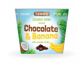 Chocolate and banana coconut bowl
