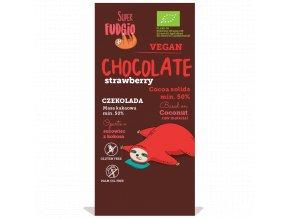 Čokoláda s kokosovým mlékem a jahodami