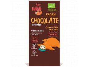 veganská čokoláda s kokosovým mlékem a pomeranči