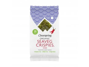 36581 Seaveg crispies křupky z mořské řasy nori chilli clearspring