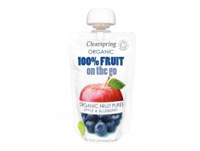 36496 Ovocné pyré jablko borůvky bio clearspring