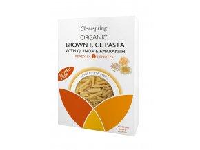36558 bezlepkové penne hnědé rýže quinoou amarantem bio clearspring