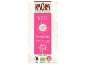 Bio čokoláda hořká s malinami KAOKA 100 g