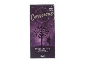 Conscious čokoláda – Tmavá 100%, bio & raw, 60 g