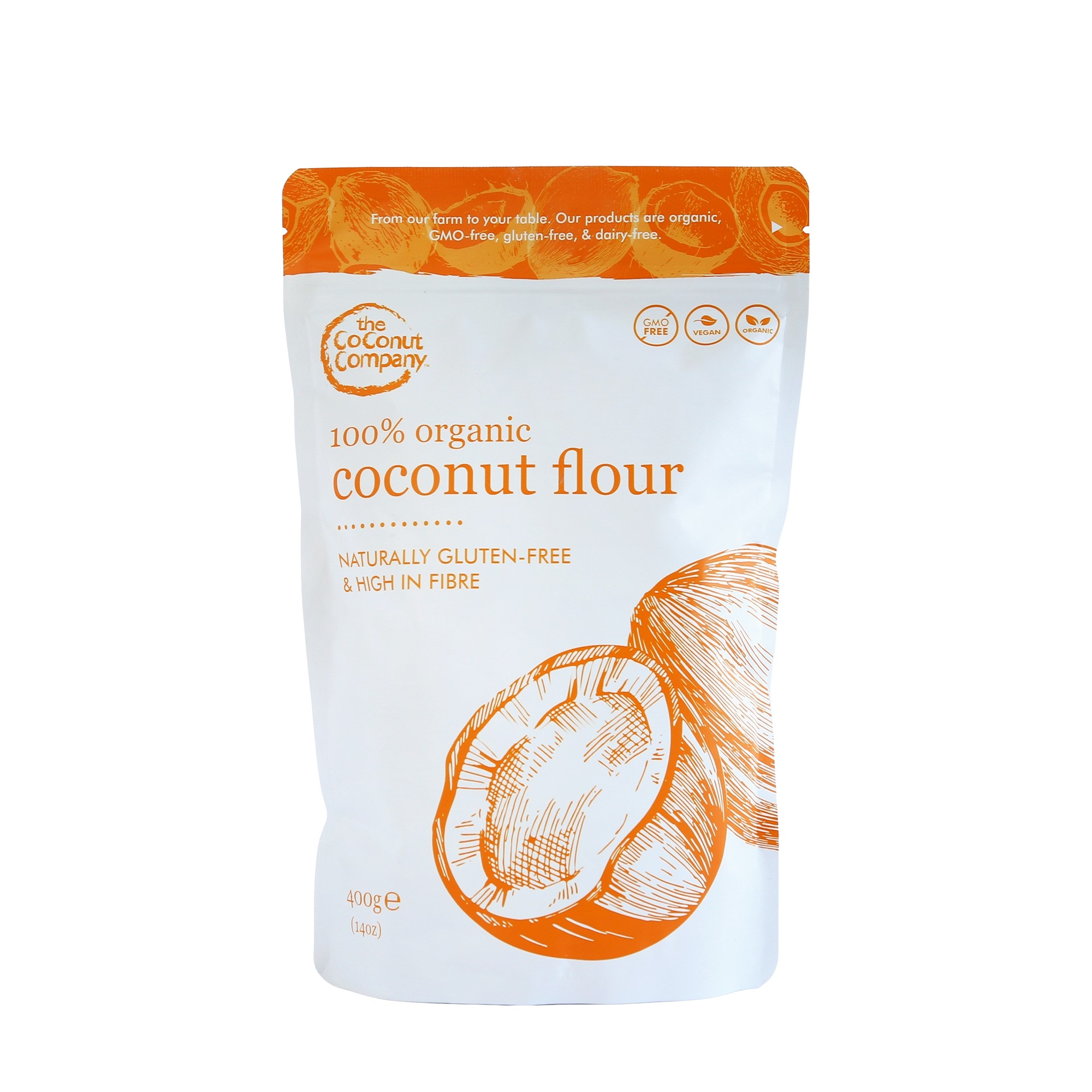 Kokosová mouka, Bio, Raw – 400g