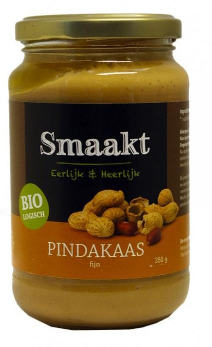 Arašídové máslo, hladké, bio - Smaakt, 350g