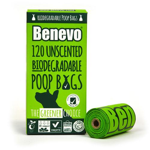 Kompostovatelné sáčky na psí exkrementy - Benevo, 120ks (8 roliček á 15 ks)