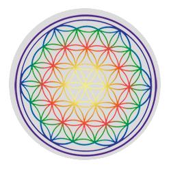 Karafa, sklo, revitalizace, natures design, květ života, zlatý řez Karafa Alladin: Happy-barevný květ života 1,3l