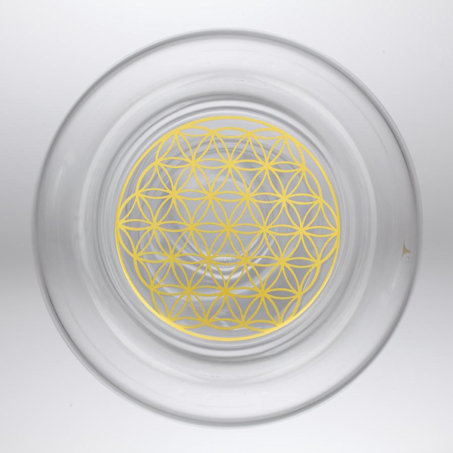 Karafa, sklo, revitalizace, natures design, květ života, zlatý řez Karafa Alladin: Family 2,3l Zlatý květ života