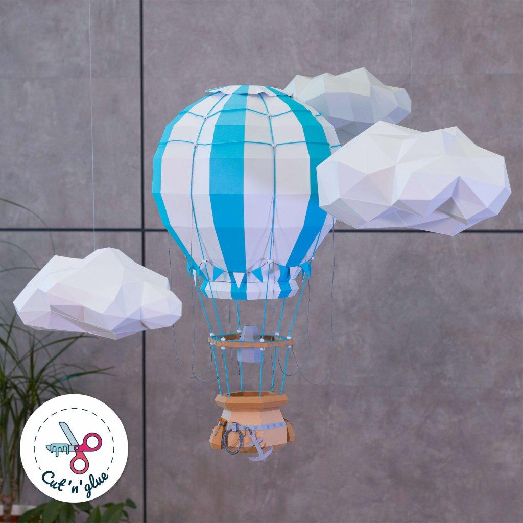 Horkovzdušný balon – papírový model