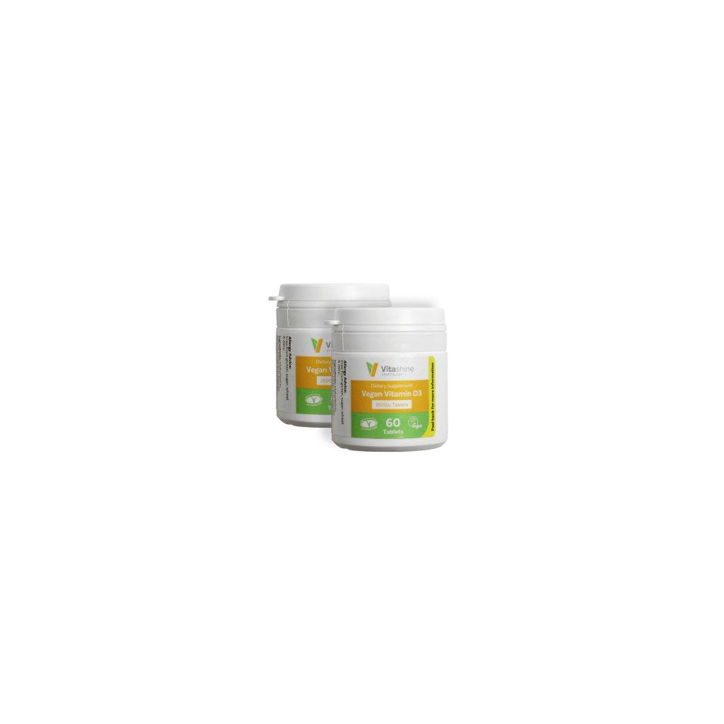 vegetology Vitashine tablety vitamin D3 2500 3 2ks