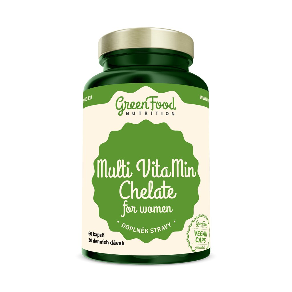 multivitamin chelat pro zeny greenfood nutrition vegan