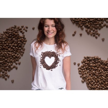 coffeelover srdcovka damske tricko bile1