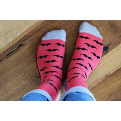 ponozky knirek cerveny