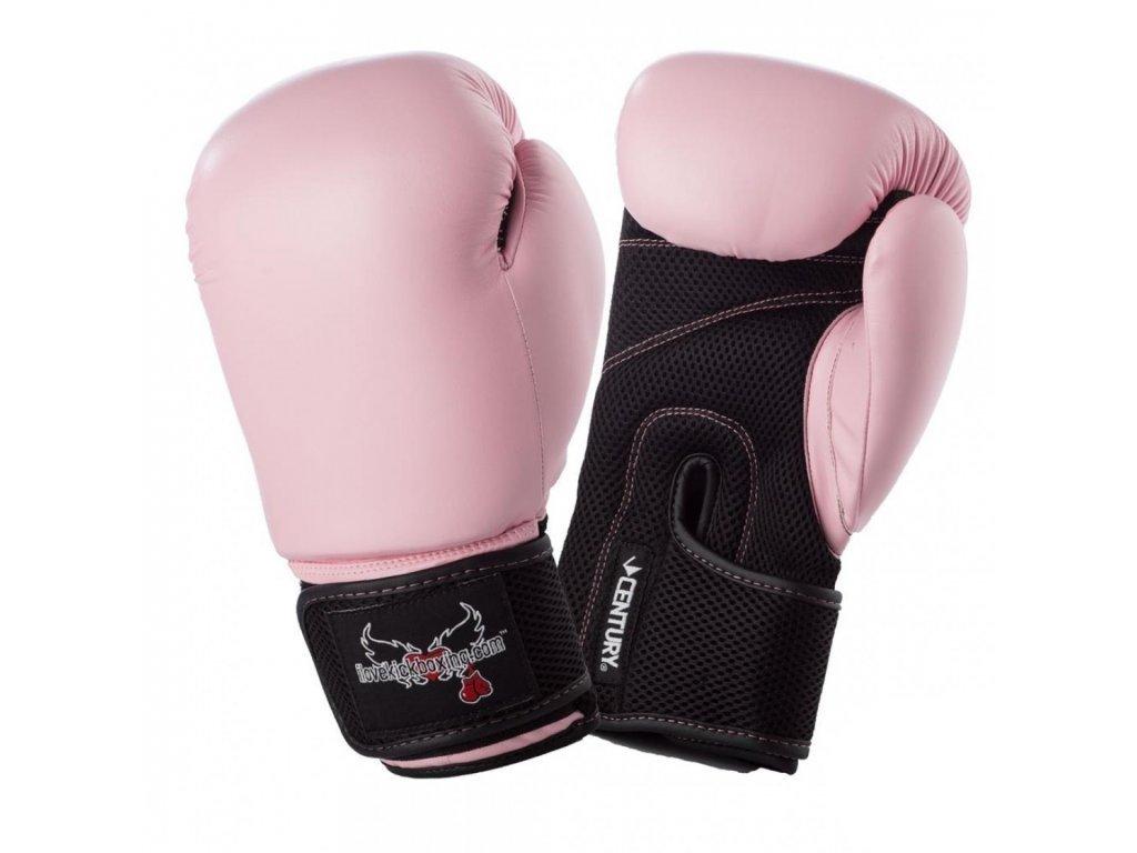 Boxerské rukavice ILOVEKICKBOXING růžové - 12 oz