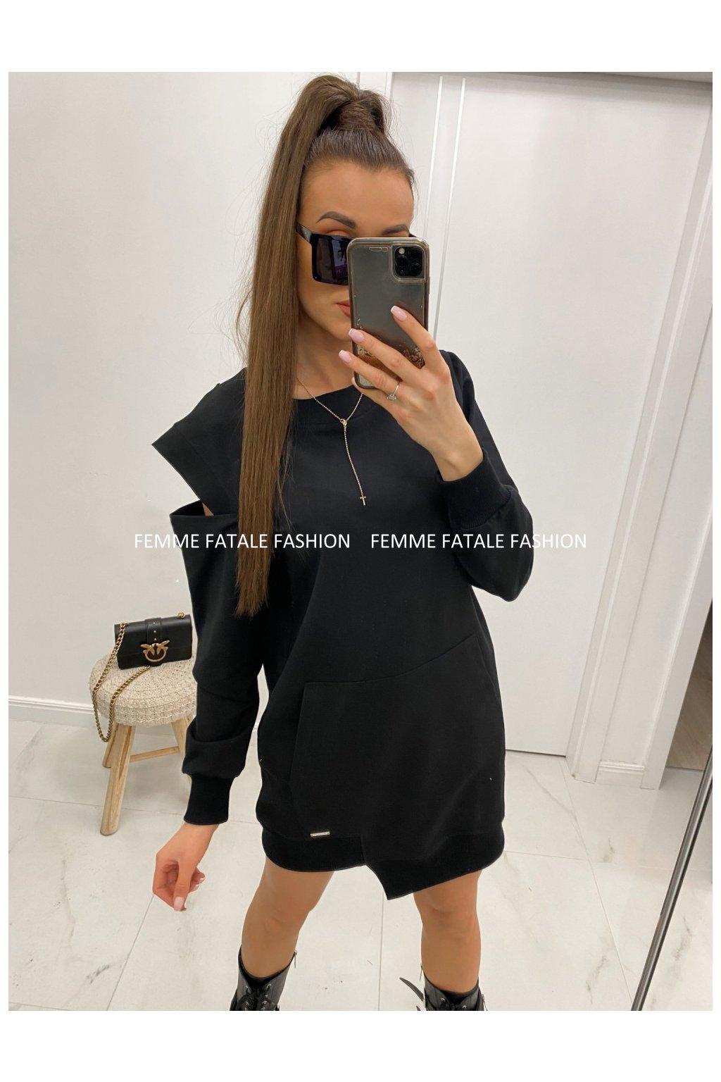Dámské mikinové šaty SONJA femefatalefashion (6)