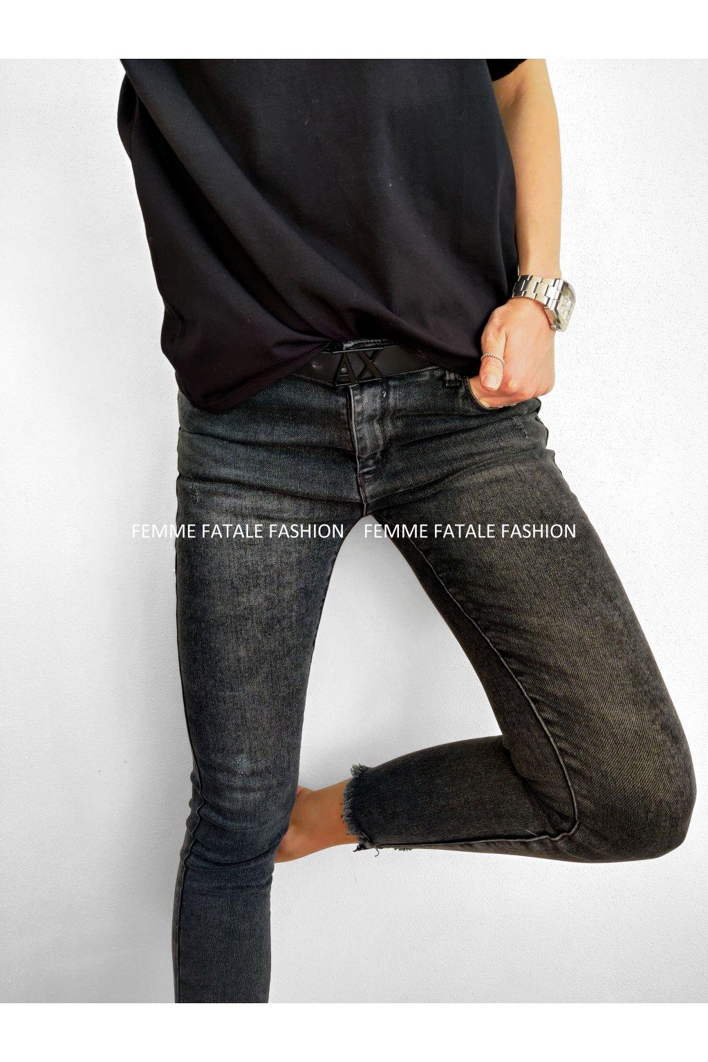 Dámské černé džíny BLACK