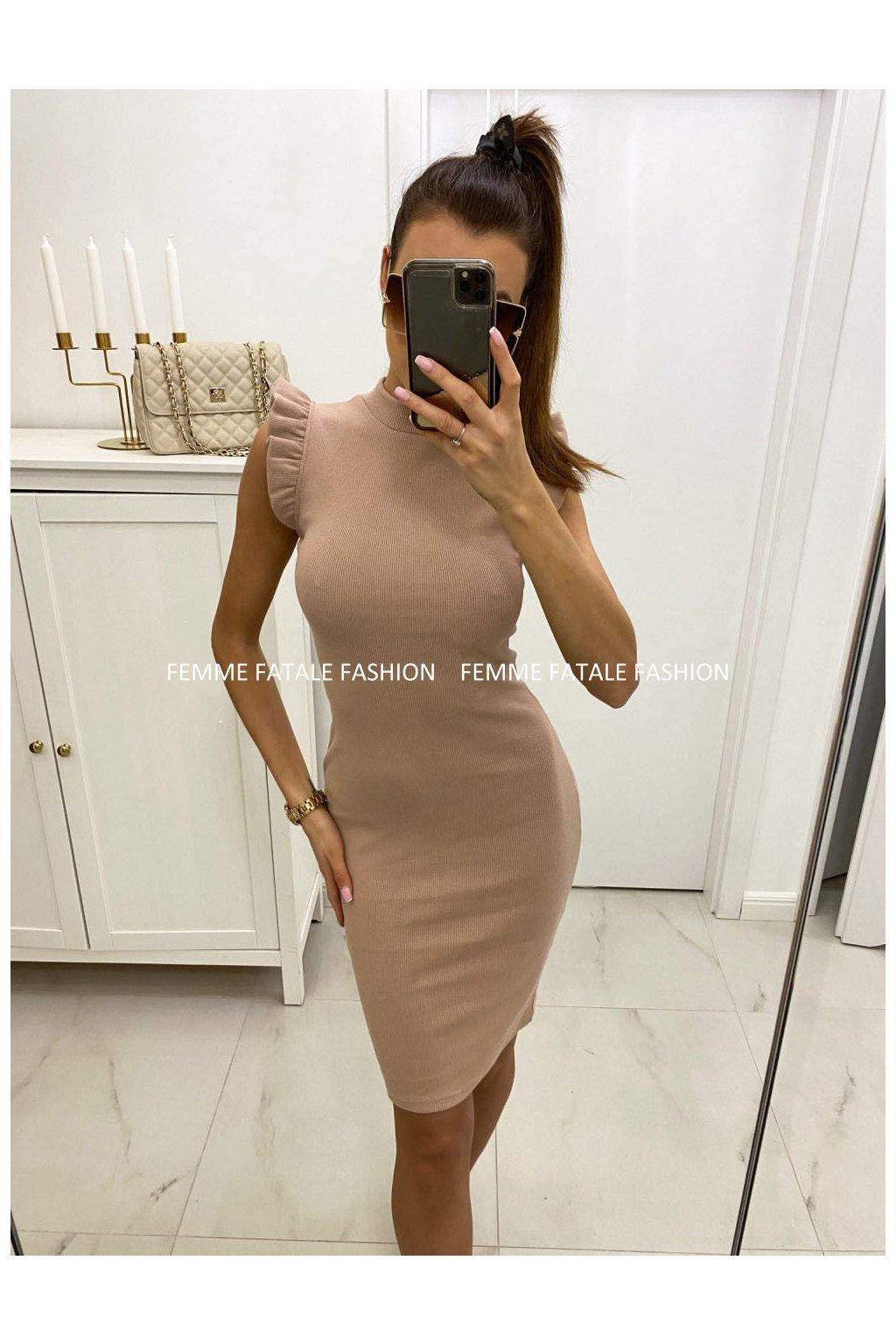 Dámské šaty ALEXA s volánky FEMMEFATALEFASHION (2)