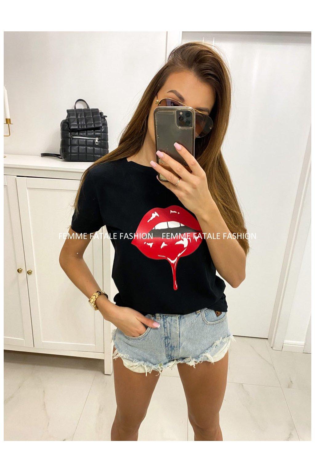 Dámské tričko RED LIPS femmefatalefashion (3)