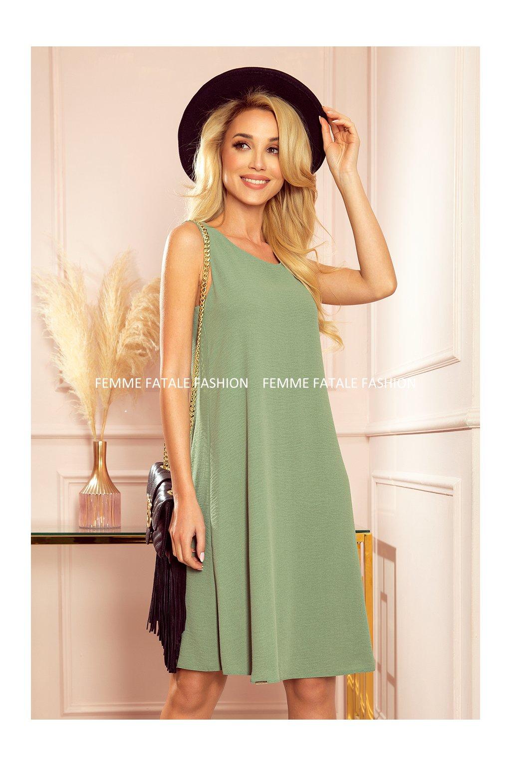 Dámské šaty VICTORIA olivová zelená (6)