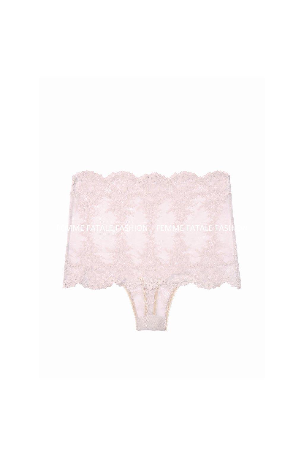 Victoria's Secret krajkové tanga s vysokým pasem High-rise Thong Panty