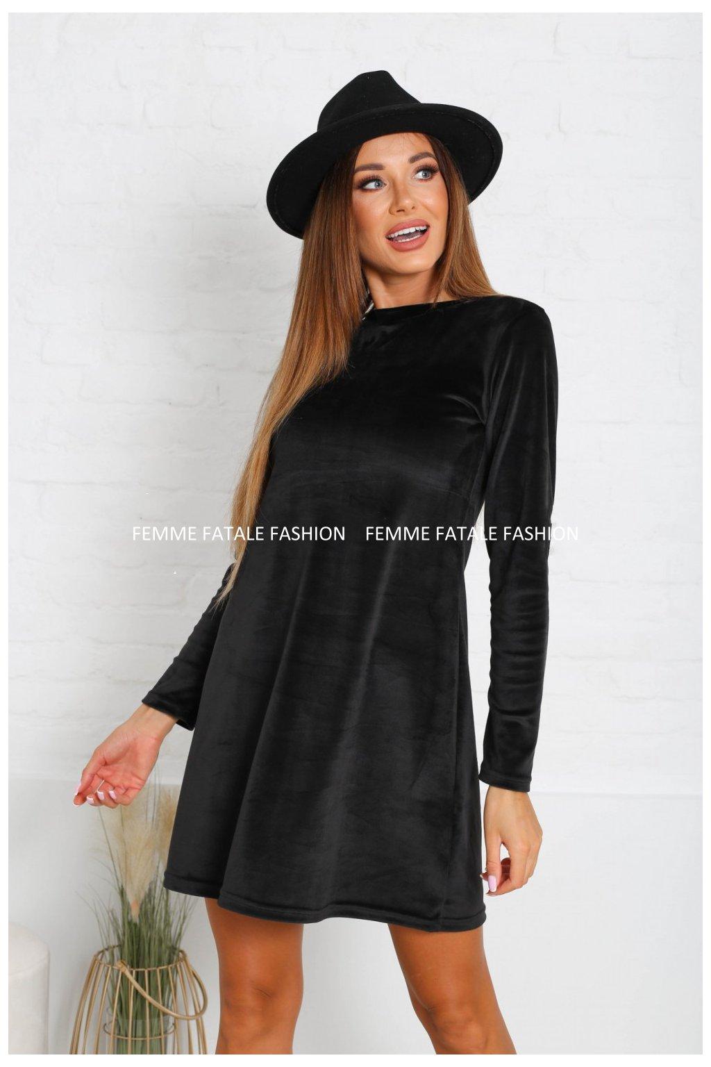 Dámské sametové šaty PEGI femmefatalefashion (2)