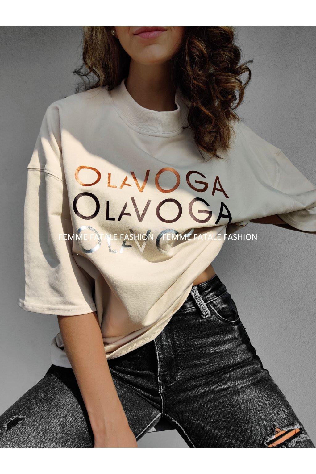 Dámské bavlněné tričko O'la Voga GOLD SILVER femefatalefashion.cz