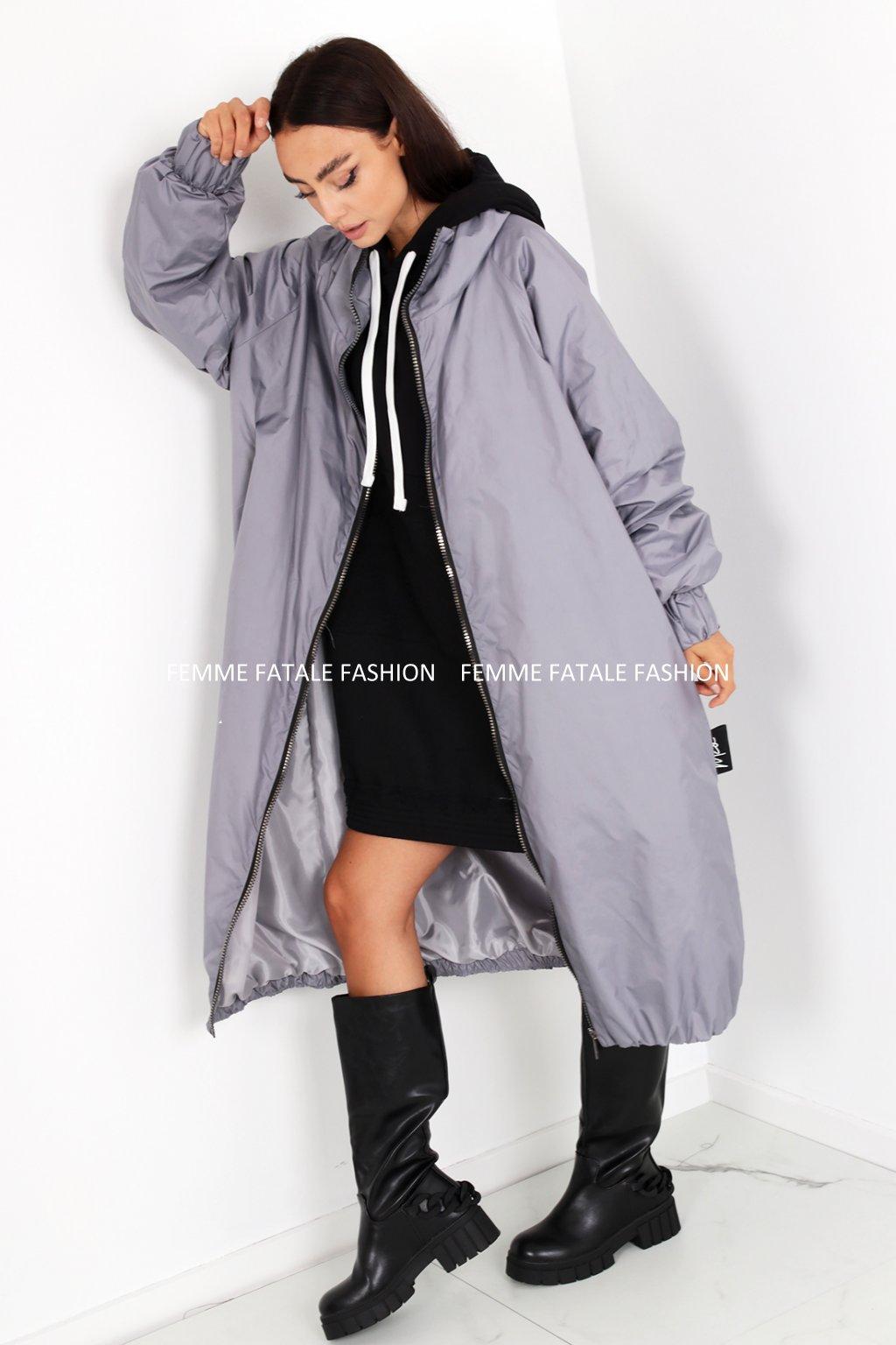 Dámský podzimní kabát EARTH femmefatalefashion (1)