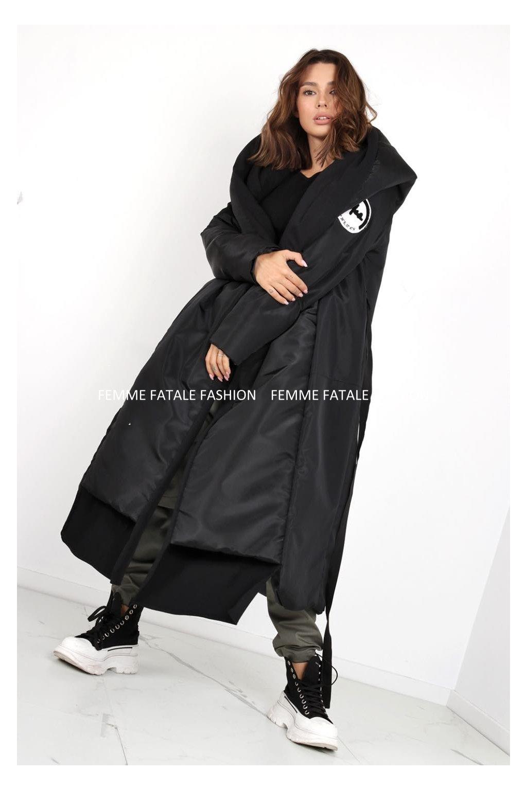Dámský luxusní podzimní kabát RESPECT femmefatalefashion (1)