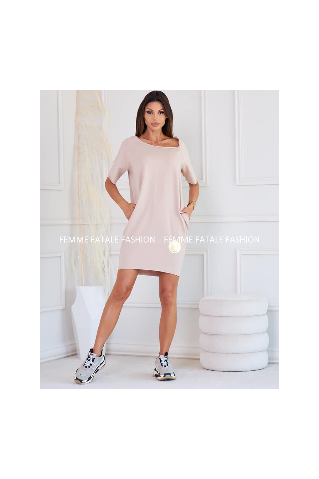 Dámské bavlněné šaty RITA femmefatalefashion (2)