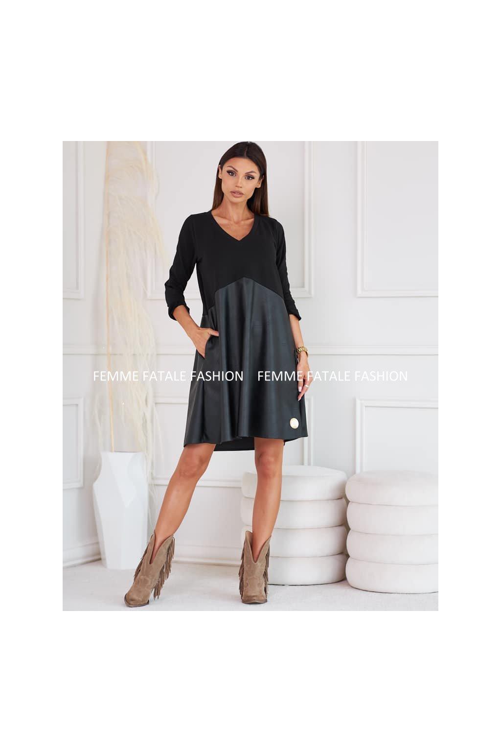 Dámské kombinované šaty GAYA femmefatalefashion (1)