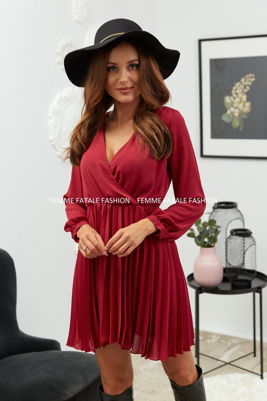 Plísované šaty LELA femmefatalefashion (2)