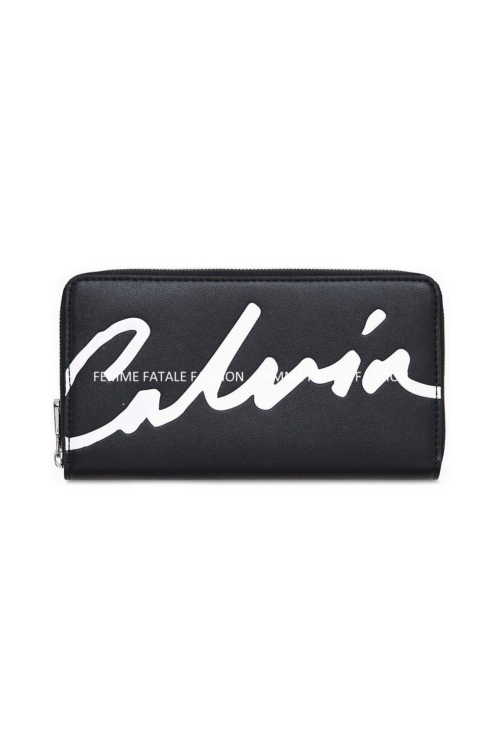 Dámská peněženka Calvin Klein Jeans CKJ Sculpted Zip Around Black