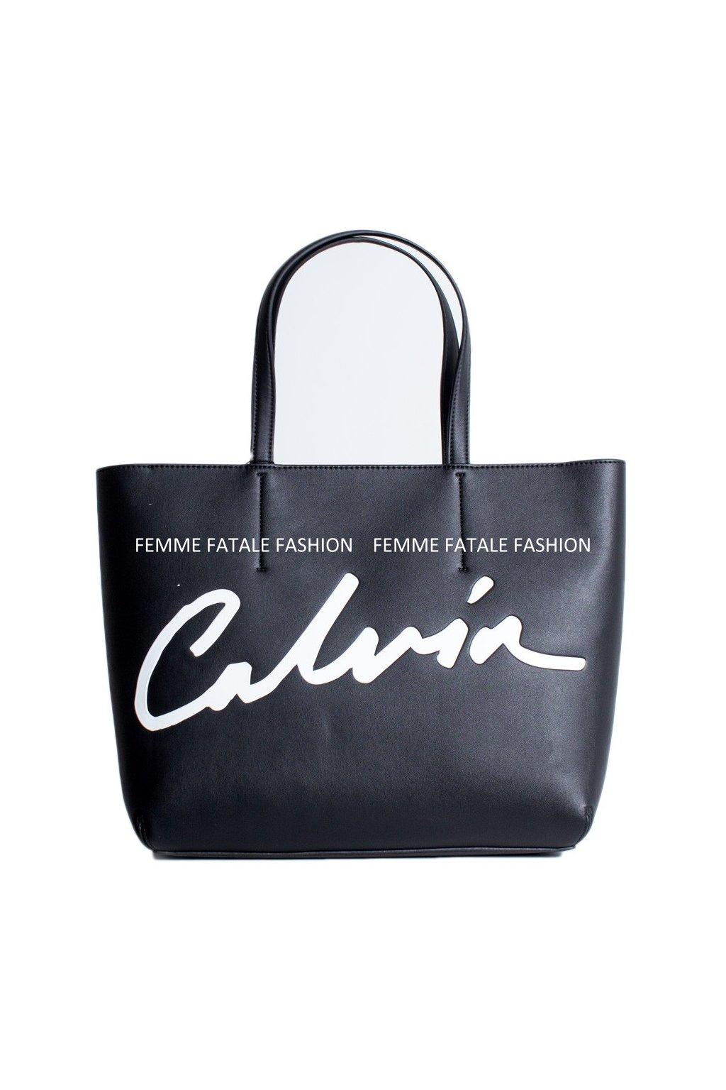 Dámská kabelka Calvin Klein Jeans CKJ Sculpted Shopper Black