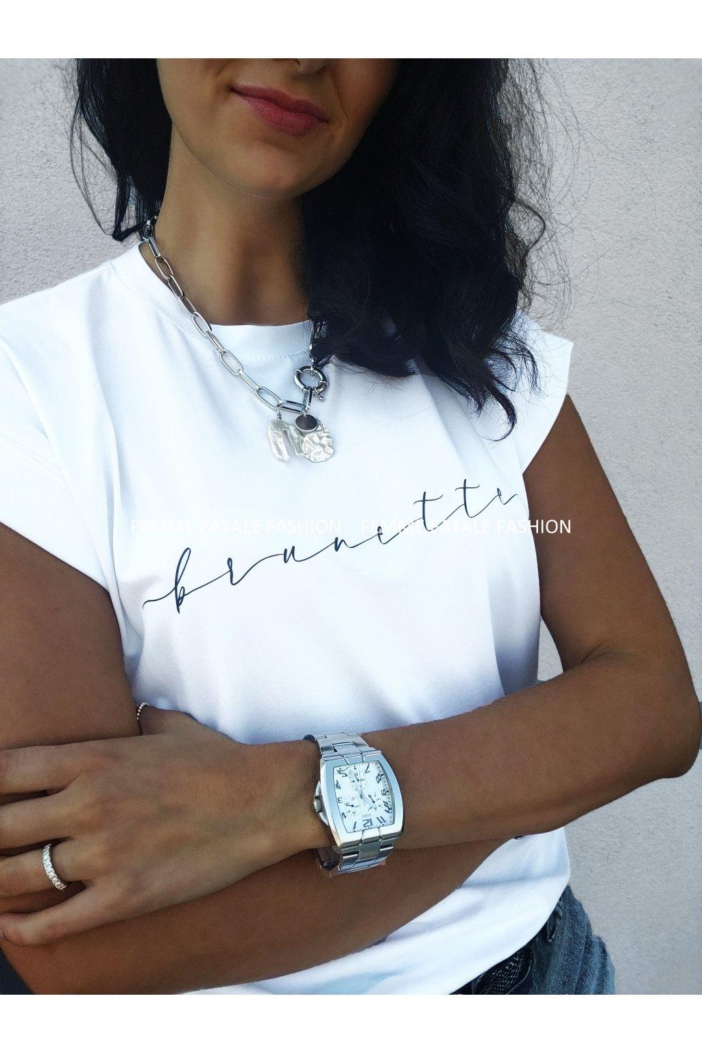 Dámské tričko s krátkým rukávem BRUNETTE femmefatalefashion.cz 2