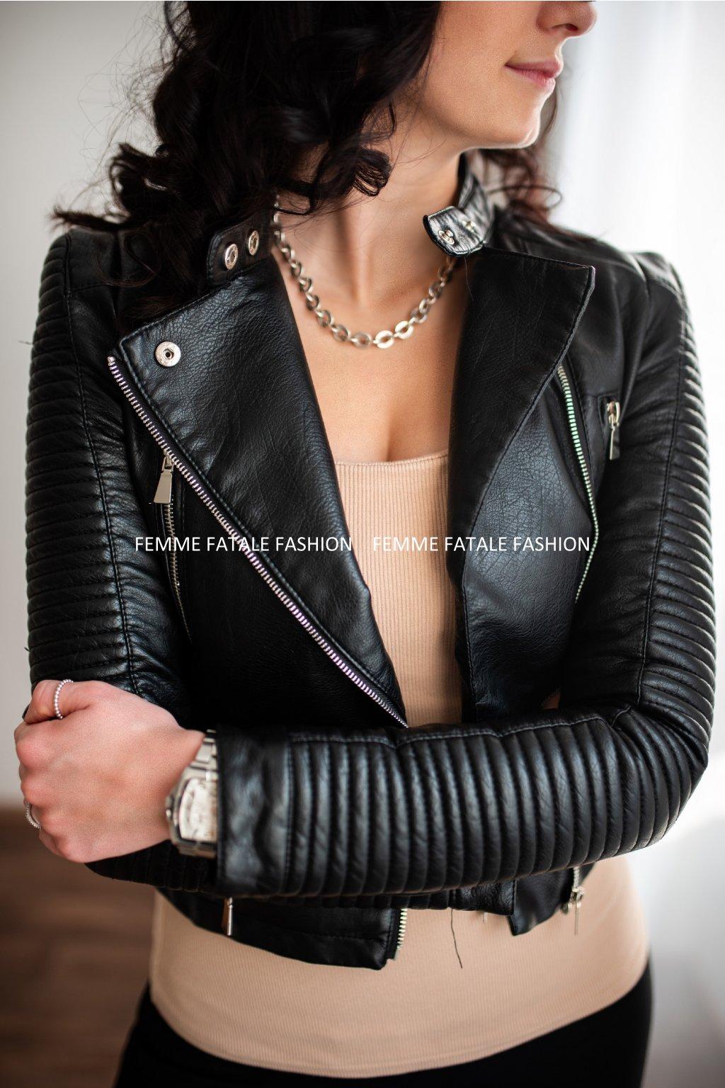 Kožená bunda BIKER femmefatalefashion (2)