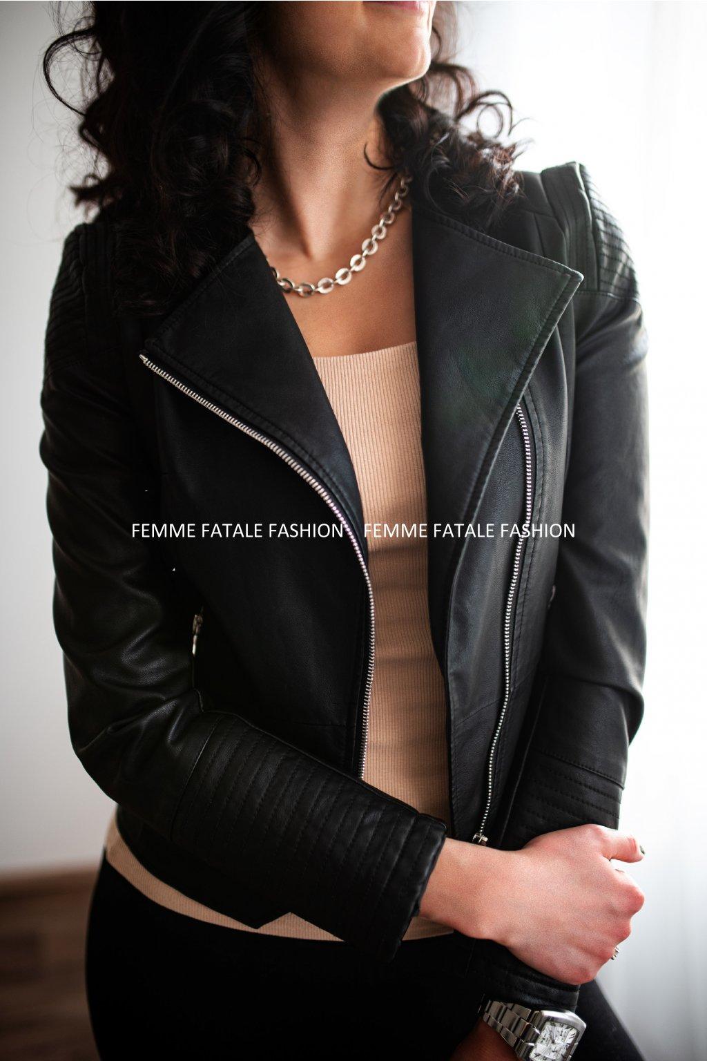 Kožená bunda, křivák BATTY femmefatalefashion.cz 2