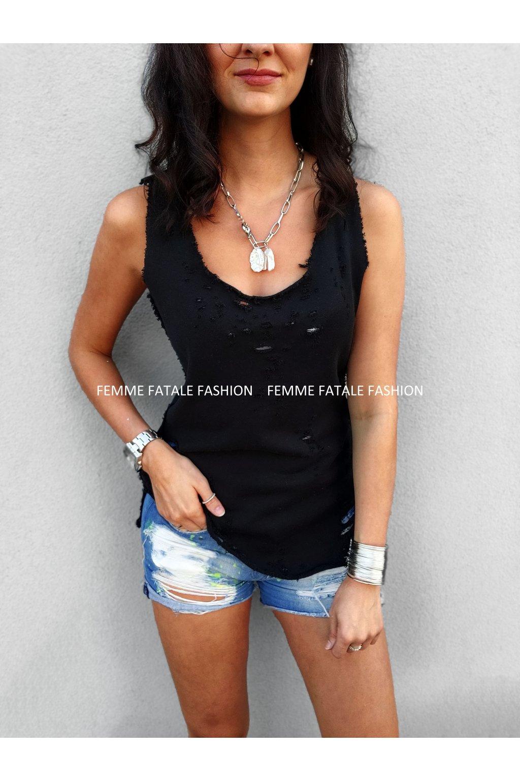 Ripped Tank Top VeryMary Clothes femmefatalefashion (1)