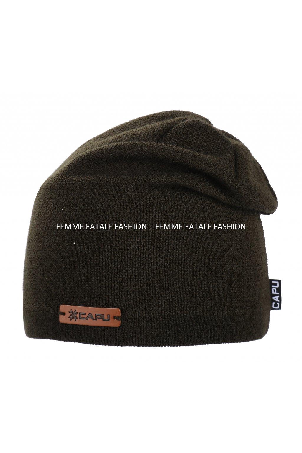 Pánská zimní čepice CAPU 1727 femmefatalefashion (4)