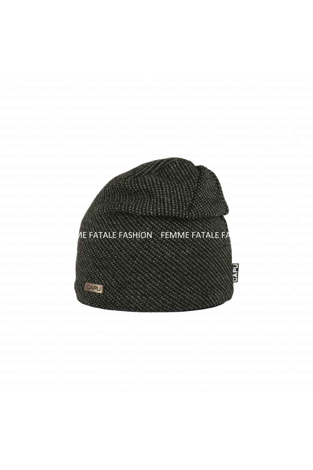 Pánská zimní čepice CAPU 1676 FEMMEFATALEFASHION (1)1