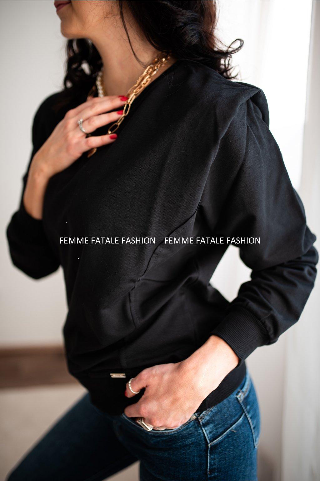 Mikina ISABELL s vycpávkami femmefatalefashion (1)