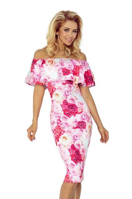 Dámské elegantní šaty ROZE femmefatalefashion (3)