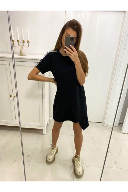 Dámské bavlněné šaty ACTIVE s cípem femmefatalefashion (3)