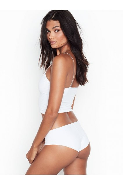 Victoria's Secret Bezešvé kalhotky No show Hiphugger Panty White 2