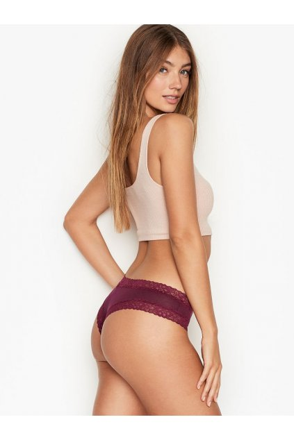 Stretch Cotton Lace waist Cheeky Panty KIR 2