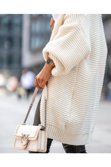 Dámská vlněný mohérový kardigan s kapucí SUE femmefatalefashion (2)